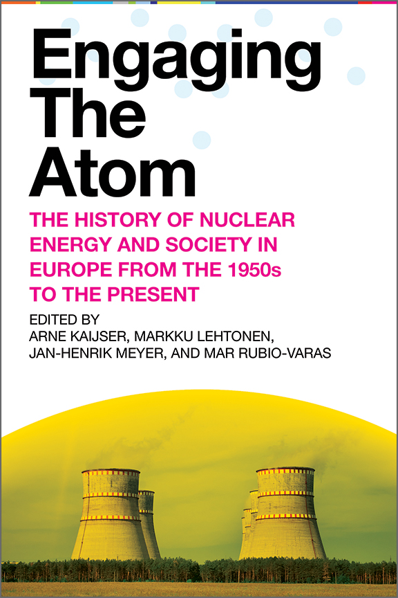 Engaging the Atom cover, four nuclear power cooling towers